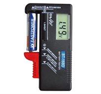בודק סוללות דיגיטלי מתאים לסוללות C,D,AA,AAA, סוללות מטבע וסוללות 9V