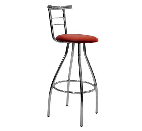 כסא בר גבוה למטבח בריפוד סקאי דגם ענבל במבחר גוונים לבחירה