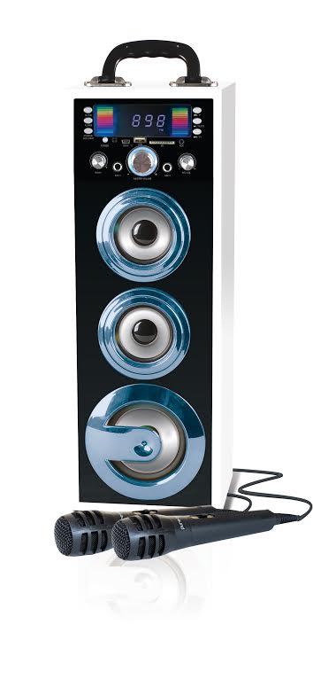 מערכת קריוקי ניידת Pure Acoustics עם Bluetooth הכוללת 2 מיקרופונים חוטיים  - תמונה 2
