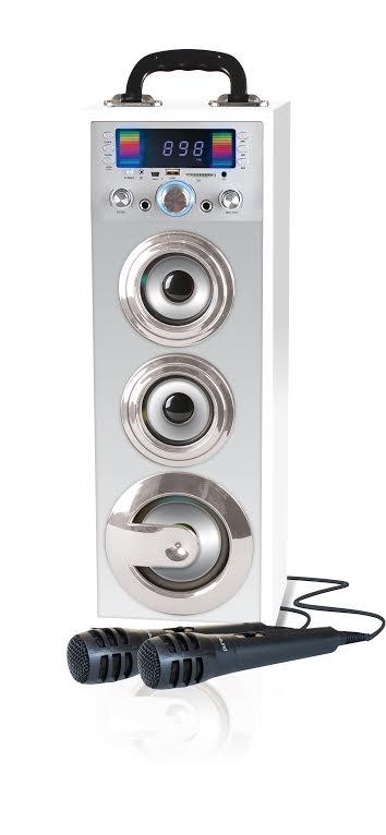 מערכת קריוקי ניידת Pure Acoustics עם Bluetooth הכוללת 2 מיקרופונים חוטיים  - תמונה 3