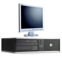 """מחשב נייח HP DC 7900 SFF מחודש זיכרון 2GB, דיסק  80GB, מעבד C2D ו-Win XP מקורי בעברית +מסך """"17.5"""