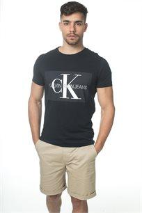 Ck גברים // טי - שרט לוגו שחורה