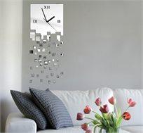 מדבקת קיר - שעון מראה Pixels