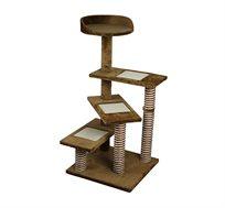 מתקן גירוד 3 קומות עם מדרגות ומושב + תרסיס קטניפ מתנה