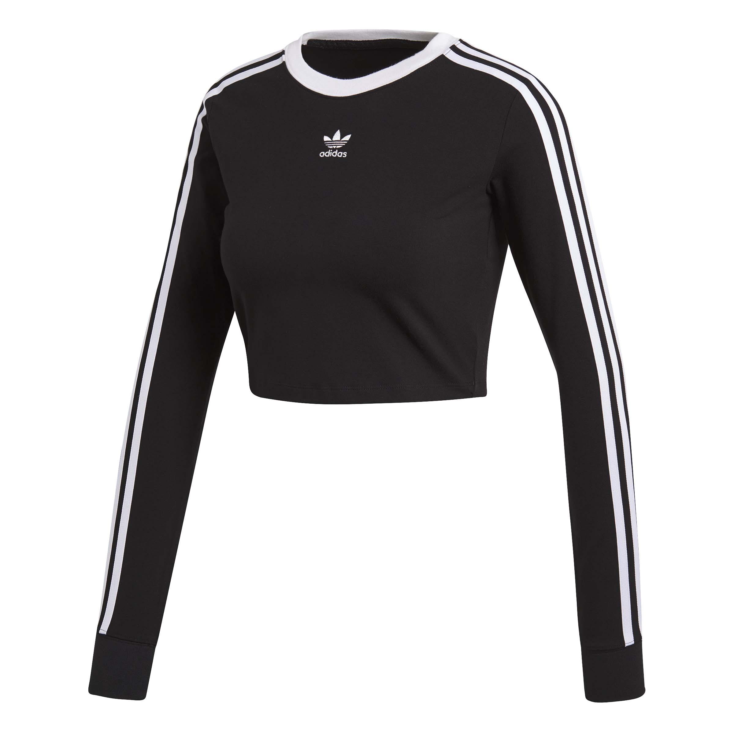 Adidas נשים // Cropped Ls Black