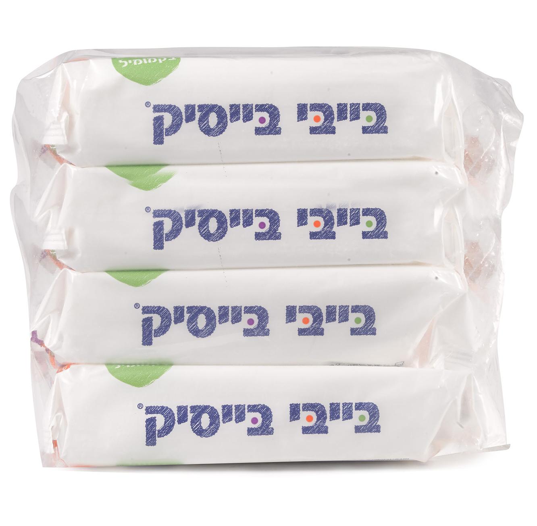 מארז הכולל 24 חבילות מגבונים לחים לתינוק מועשרים בקמומיל בייבי בייסיק  - תמונה 3