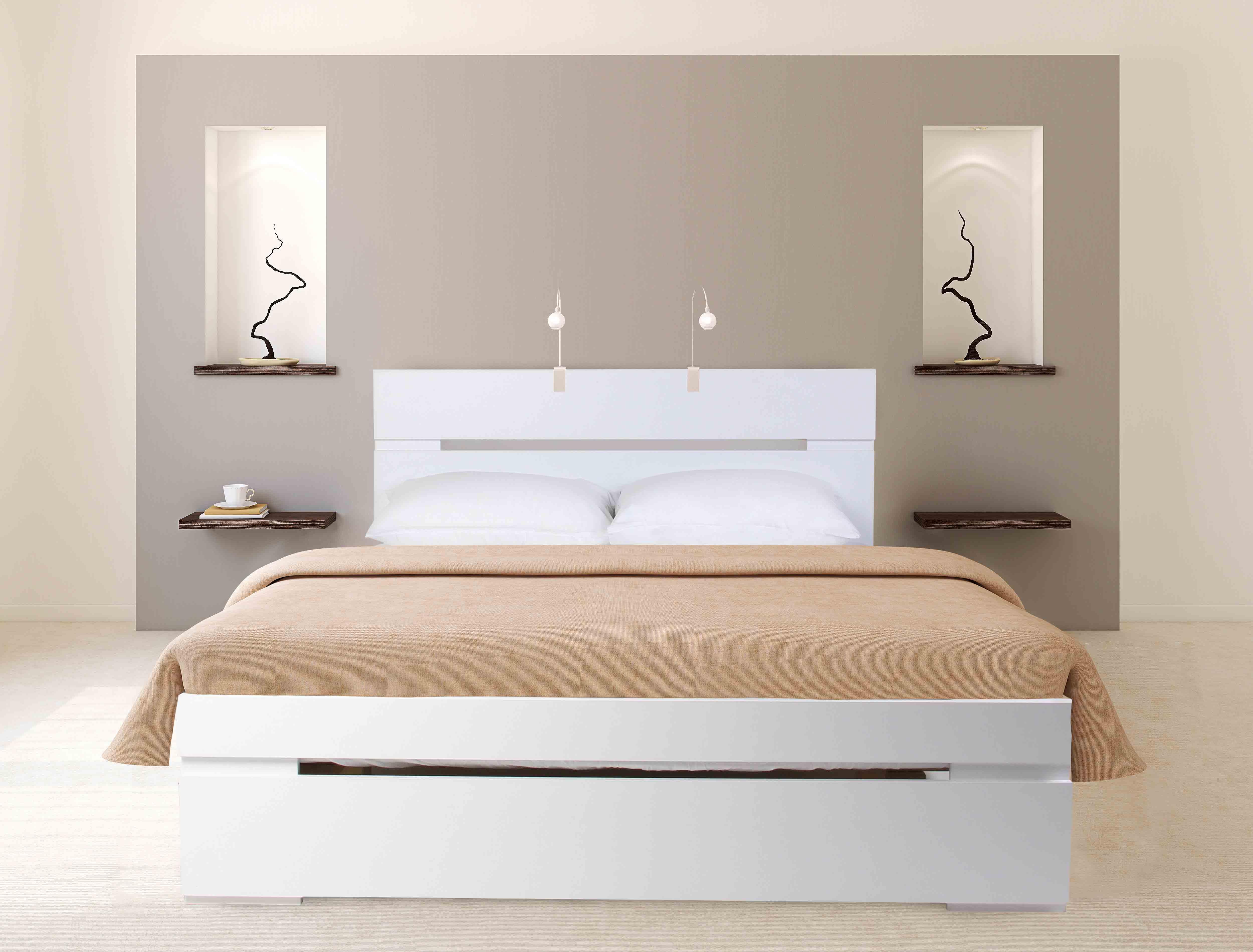 מיטה מעוצבת עשויה עץ במגוון צבעים לבחירה + מזרן קפיצים מתנה Olympia - משלוח חינם - תמונה 2