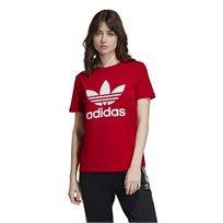חולצה אדידס אדומה לנשים - Adidas Trefoil Tee