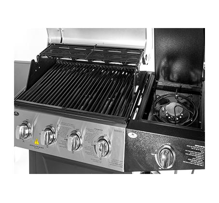 גריל גז מקצועי 4 מבערי סולם נירוסטה+כירת צד 52,000 BTU  דגם 4 סאנסט Australia Chef כולל הרכבה מלאה - תמונה 4