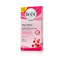 מארז 3 יחידות רצועות שעווה מוכנות לשימוש Veet Wax strips
