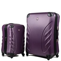 Swiss סט 2 מזוודות גדולה + עלייה למטוס סגול
