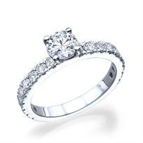 """טבעת יהלומים זהב לבן """"בר"""" בשיבוץ 1.65 קראט"""