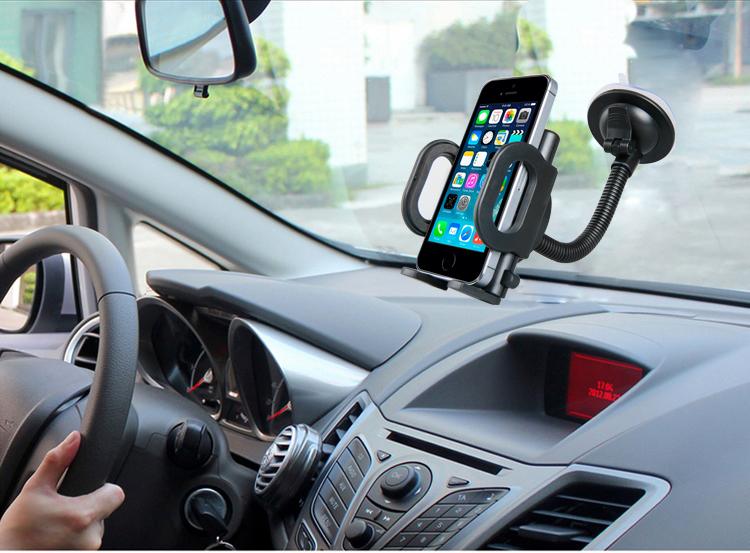 פתרון חכם ויעיל לרכב שלך! ידית אחיזה מתחברת לסמארטפונים עם זרוע גמישה להתאמה מושלמת של זווית הצפייה - תמונה 3
