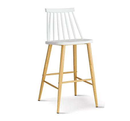 כסא בר במראה עץ לפינת אוכל בעיצוב מודרני בצבעים לבחירה  - תמונה 2