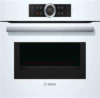 תנור קומפקטי משולב מיקרוגל מאפשר תוצאות בישול ואפייה מצויינות ומהירות Bosch דגם  CMG633BW1