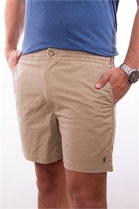 מכנסיים קצרים לגבר POLO RALPH LAUREN גזרת CLASSIC FIT בצבע קאמל