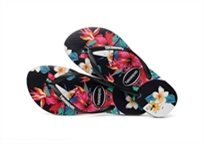 Havaianas נשים//  Slim Tropical Floral Black