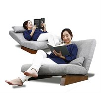 ספת חוליות בעיצוב יפני, בעלת משענת גב מתכוננת ורגלי עץ, מתאימה לישיבה או שכיבה!