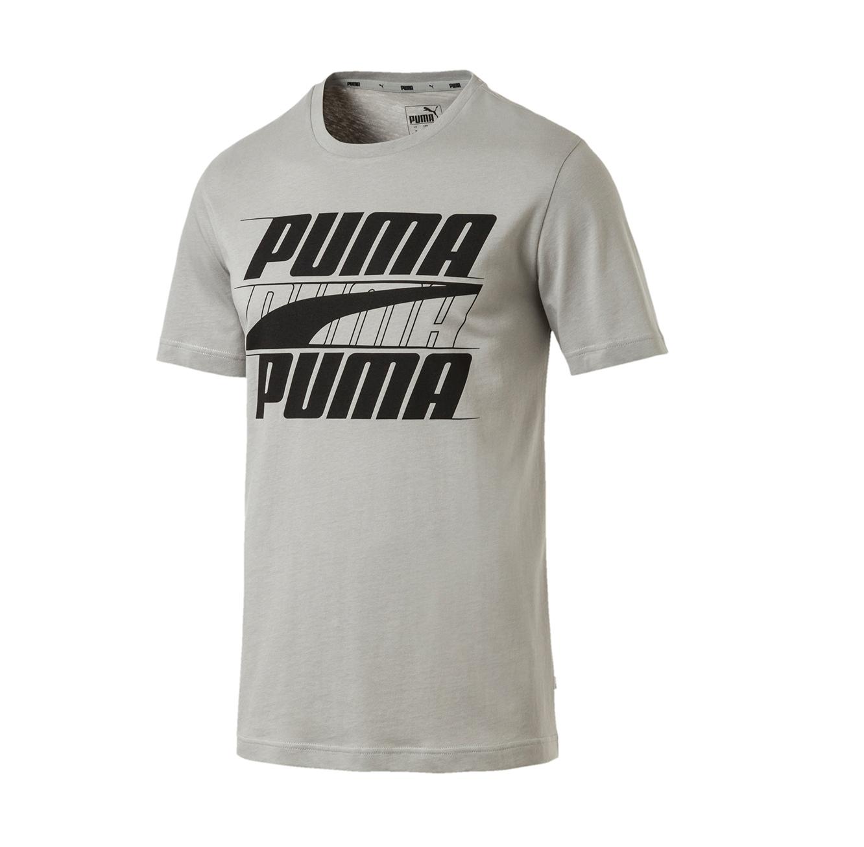 חולצת טי קלאסית דגם L85415085 לגברים - אפור