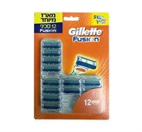 מארז 12 סכיני גילוח פיוז'ן ידני Gillette