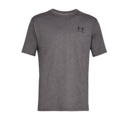 חולצת אימון Under Armour Sportstyle Left Chest SS לגברים - אפור