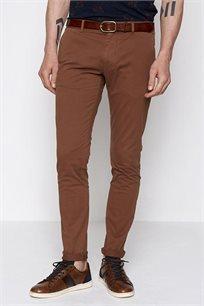מכנסי בד קזואל לגבר DEVRED בצבע חום קרמל