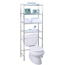 """מעמד 4 קומות לאחסון מעל אסלת שירותים, מכונת כביסה, סל כביסה ועוד honey can do ארה""""ב"""