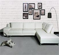 ספה פינתית בריפוד דמוי עור או בד מיקרופייבר דגם אימפלה