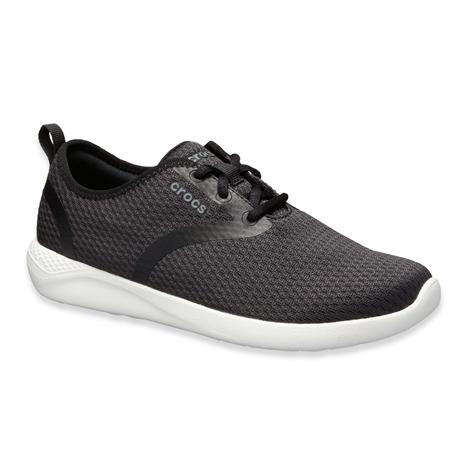 Crocs Literide Mesh W - נעלי סניקרס ספורטיביות מבד רשת בכנולוגיית לייט רייד בצבע שחורלבן