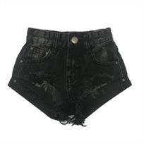 ORO/ שורט ג'ינס (16-2 שנים) -  שחור