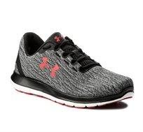 נעלי ריצה לגברים Under Armour Remix בצבעי אפור שחור אדום