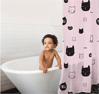 וילון אמבטיה מעוצב ודוחה מים