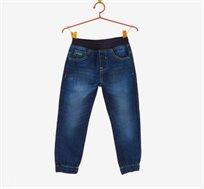 מכנס במראה ג'ינס משופשף OVS לילדים דגם 278980 - כחול