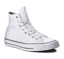 נעלי סניקרס All Star גבוהות לנשים בצבע לבן וכסף מטאלי