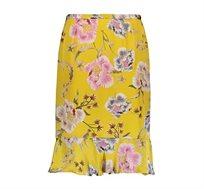 חצאית פרחונית לנשים Punt Roma בצבע צהוב