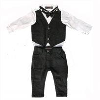 ORO / אורו חליפות ווסט בייבי(3חודשים - 3 שנים)אפור כהה