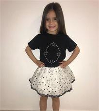 ORO חליפת חצאית טוטו (7-2 שנים)- שחור