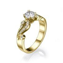 טבעת יהלומים בסגנון וינטאג' 1.01 קראט D/Vs2