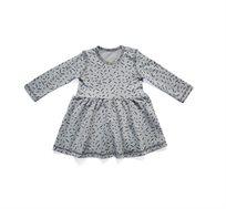 שמלת שרוולים ארוכים BABY ROCK עם הדפס קונפטי בצבע אפור בהיר