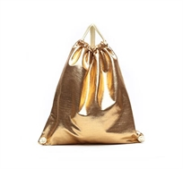 תיק מטאלי בצבע זהב