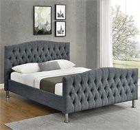 מיטה זוגית מרופדת עם בסיס עץ מלא בעיצוב מודרני דגם לימור HOME DECOR