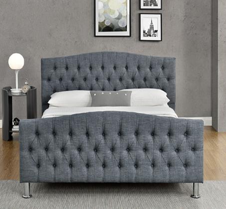 מיטה זוגית מרופדת עם בסיס עץ מלא בעיצוב מודרני דגם לימור HOME DECOR  - תמונה 2