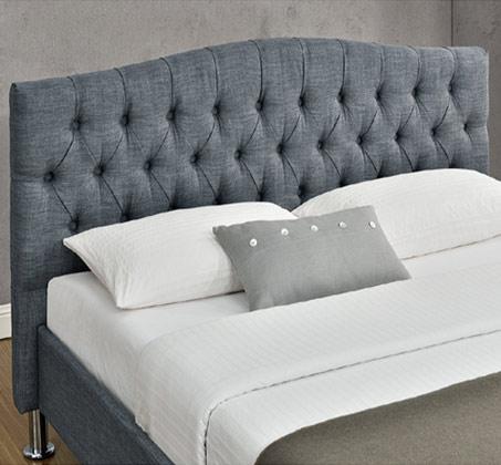 מיטה זוגית מרופדת עם בסיס עץ מלא בעיצוב מודרני דגם לימור HOME DECOR  - תמונה 4