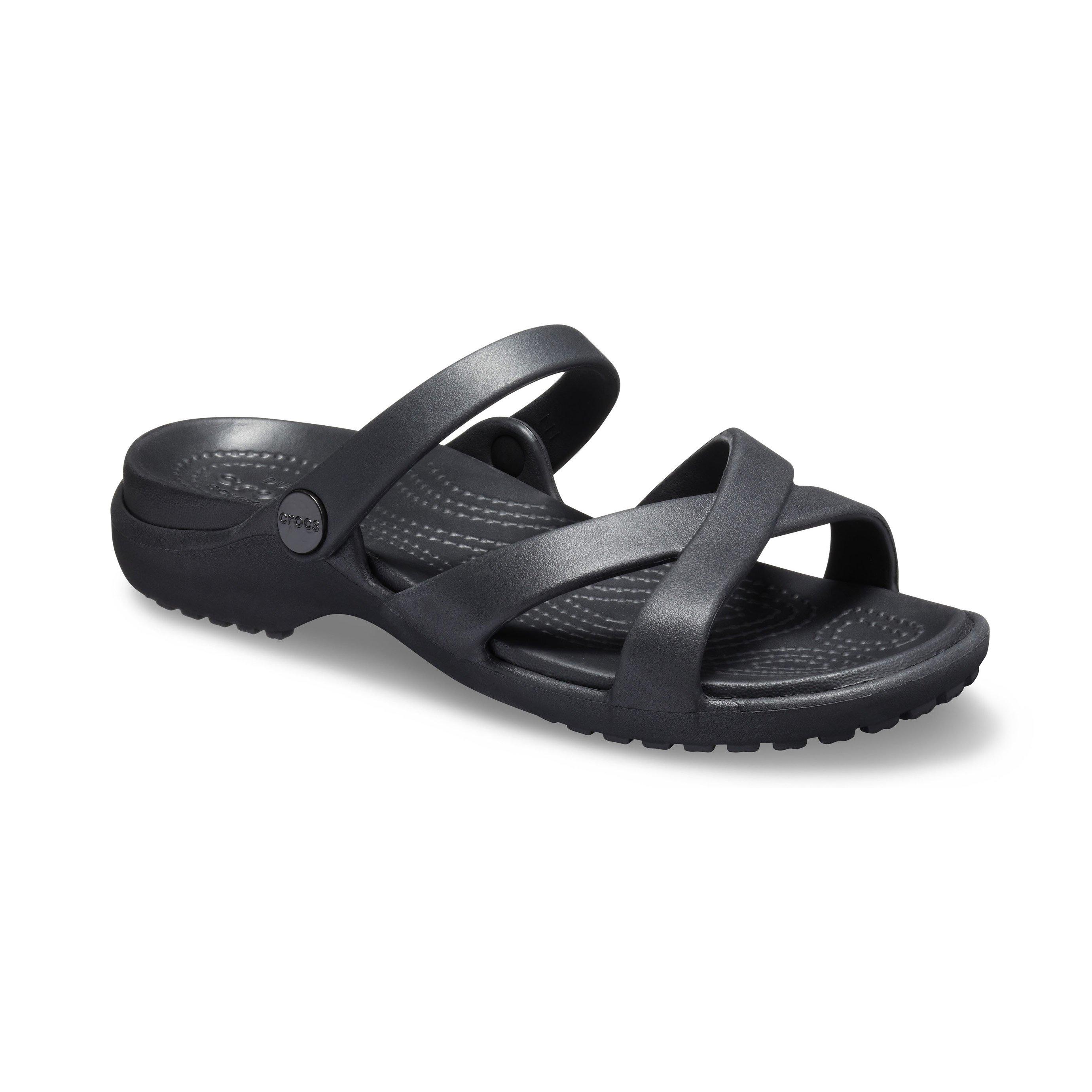 Crocs Meleen - כפכף קלאסי שחור עם רצועות מוצלבות
