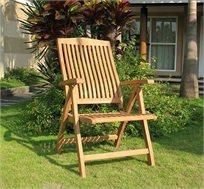 כסא עץ מעוצב לחצרות ומרפסות דגם JAVA