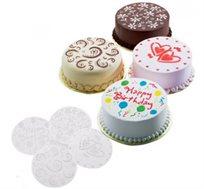 מדליק! סט 4 שבלונות לעיצוב עוגות, מתאים לקישוט עבור יום האהבה, חגים וימי הולדת או לכל אירוע מיוחד