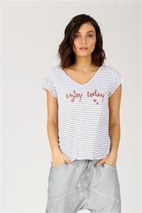חולצה enjoy - אפור - CUBiCA