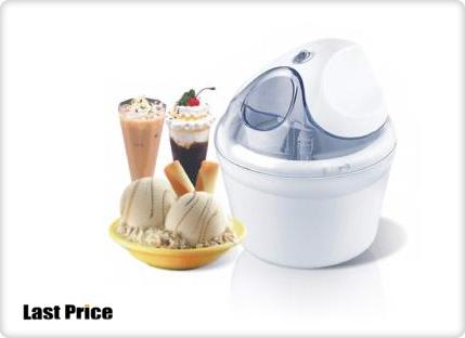 מעולה  ממש כמו בגלידרייה! מכונת גלידה מקצועית לבית, להכנת גלידות שמנת QI-21