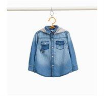 חולצת ג'ינס OVS עם הדפס ופאצים לילדים - כחול