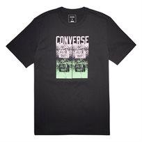 Converse גברים// חולצה הדפס צבעוני שחורה